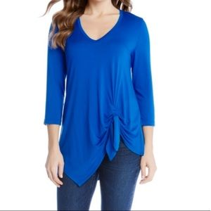 Karen Kane NWT Women  Asymmetric Side Tie Top XL